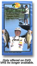 Stacey King Bassin BlowUp Fishing VHS or DVD